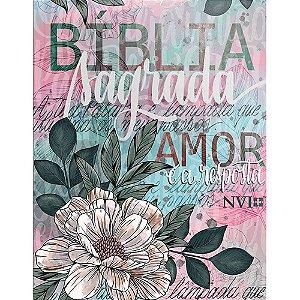Biblia Nvi Media Brochura Flor Artistica