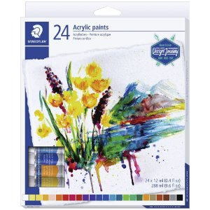 Tinta Acrílica 24 Cores Staedtler Acrylic Paints