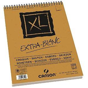 Bloco Papel Canson XL Extra Blanc 120fls A3 90g