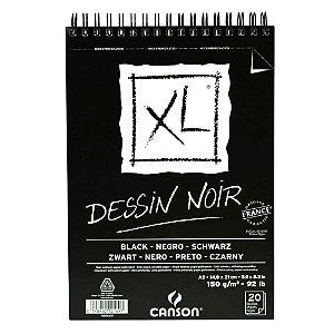 Bloco Papel Canson XL Dessin Noir 20fls A5 150g