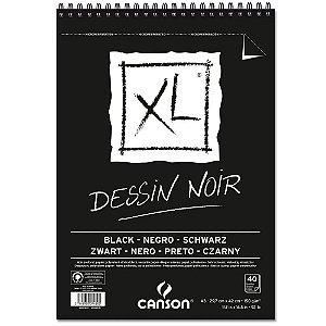 Bloco Papel Canson XL Dessin Noir A3 40fls 150g
