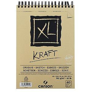 Bloco Papel Canson XL Kraft 40fls A5 90g