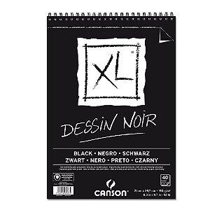 Bloco Papel Canson XL Dessin Noir A4 40fls 150g