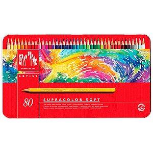Lápis Aquarelável Caran D'Ache Supracolor Soft 80 Cores