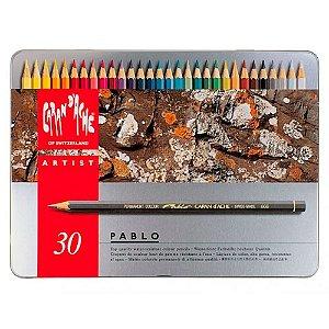 Lápis De Cor Pablo Caran D' Ache 30 Cores