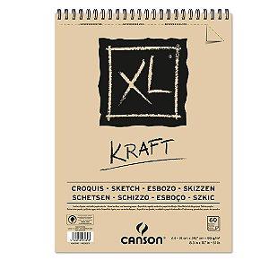 Bloco Papel Canson XL Kraft 60fls A4 90g