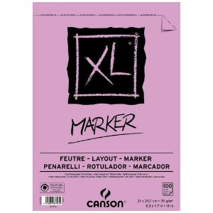 Bloco Papel Canson XL Marker 100fls A4 70g