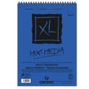 Bloco Papel Canson XL Mix Media 30fls A3 300g