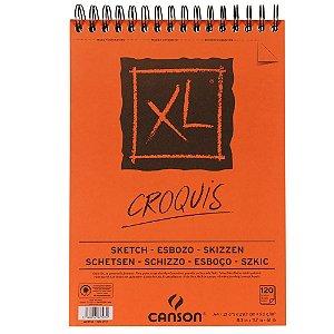 Bloco Papel Canson Xl Croquis 120fls A4 90g