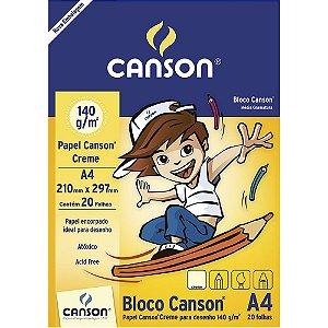 Bloco Papel Canson Desenho Creme Infantil A4 20fls 140g