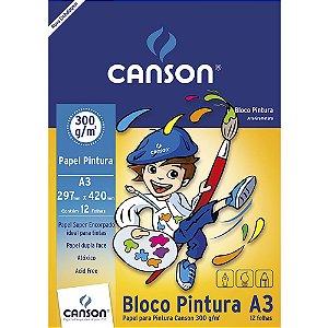 Bloco Papel Pintura Infantil A3 12fls 300g