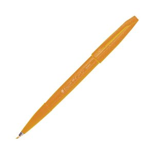 Caneta Pincel Brush Sign Pen Amarelo Ocre - SES15C-Y