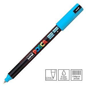 Caneta Marcador Posca PC-1MR Azul Claro 8 Uni-Ball