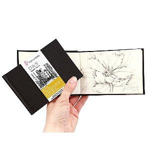 Sketchbook D&S Caderno Preto 9x12,5cm Paisagem 140g 30fls