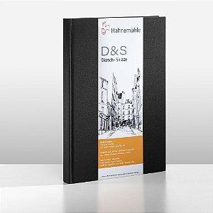 Sketchbook D&S Caderno Preto A4 Retrato 140g 80fls