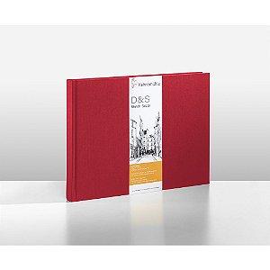 Sketchbook D&S Caderno Vermelho A5 Paisagem 140g 80fls