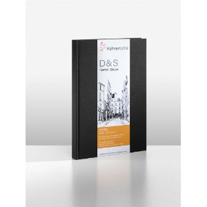 Sketchbook D&S Caderno Preto A5 Retrato 140g 80fls