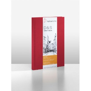 Sketchbook D&S Caderno Vermelho A5 Retrato 140g 80fls