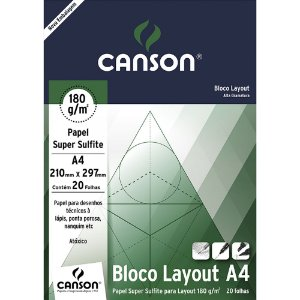 Bloco Layout Papel Sulfite 20fls A4 180g