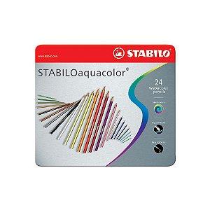 Lápis Aquarelavel Stabilo Aquacolor 24 Cores