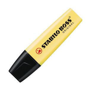 Marca-Texto Stabilo Boss Original Pastel Amarelo 70/144