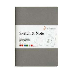 Caderneta Sketch & Note 125g A4 C/ 20Fls (Cinza e Pink)