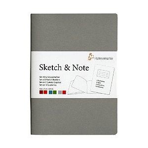 Caderneta Sketch & Note 125g A6 C/ 20Fls (Cinza e Pink)