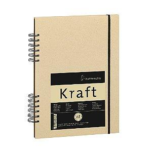 Sketch Book Kraft 120g Meia Espiral A5 C/ 80 Fls