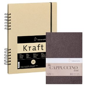 KIT Sketch Book Kraft 120g A4 + Bloco The Cappuccino Book 120g A5