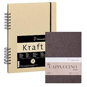 KIT Sketch Book Kraft 120g A4 + Bloco The Cappuccino Book 120g A5