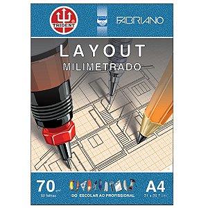 Papel Layout Milimetrado A4 70g 50 Folhas