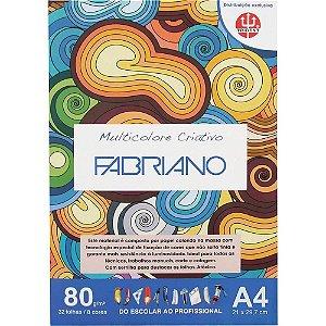 Papel Multicolore Criativo 8 Cores A4 80g 32 Folhas