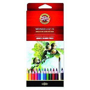 Lápis De Cor Aquarelável Mondeluz C/24 Cores 3718