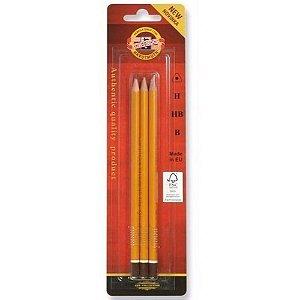 Lápis Grafite Graduado Kit C/3 Unid. HB/2B/4B - 158002BL