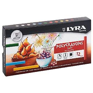 Giz Pastel Seco Polycrayons Lyra C/12 Cores - 5651120