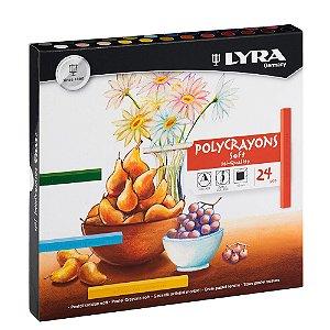 Giz Pastel Seco Polycrayons Lyra C/24 Cores - 5651240