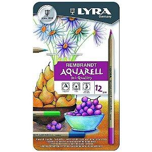 Lápis De Cor Aquarelável Lyra Rembrand Aquarell C/12 Cores 2011120