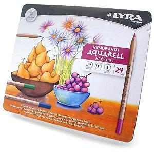 Lápis De Cor Aquarelável Lyra Rembrand Aquarell C/24 Cores - 2001240
