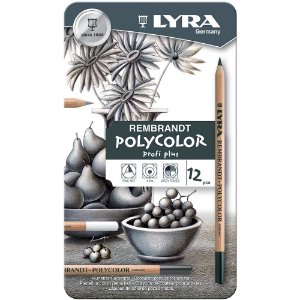 Lápis De Cor Lyra Rembrand Polycolor Estojo C/12 Tons Cinza