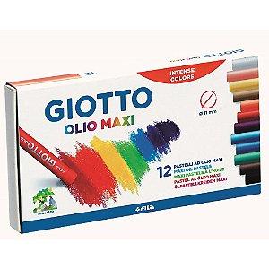 Giz Pastel Oleoso Giotto 12 Cores