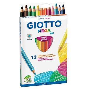 Lápis De Cor Giotto Mega Tri 12 Cores