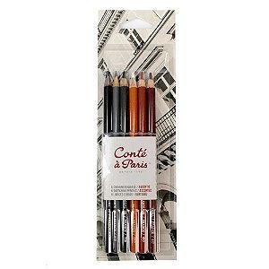 Kit Lápis Crayon C/6 Cores Conté À Paris 50106