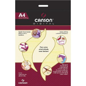 Papel Canson A4 Verge Marfim 30 Folhass 120g Digital 425800