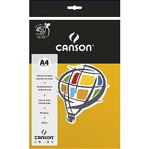 Papel Colorido A4 Canson Color Amarelo 180g/m² 10 Folhas