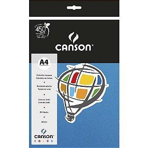 Papel Colorido A4 Canson Color Azul Mar 180g 10 Folhas