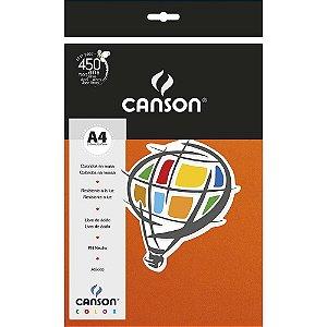 Papel Colorido A4 Canson Color Laranja 180g 10 Folhas