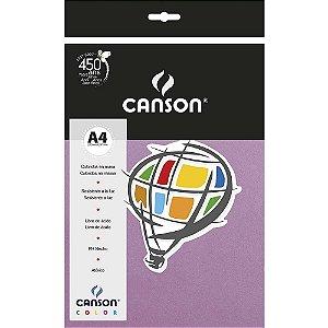 Papel Colorido A4 Canson Color Lilás 180g 10 Folhas Roxo