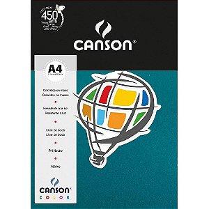 Papel Colorido A4 Canson Color Mar do Caribe 180g 10 Folhas