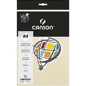 Papel Colorido A4 Canson Color Marfim A4 180g 10 Folhas