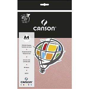 Papel Colorido A4 Canson Color Rosa Claro 180g 10 Folhas